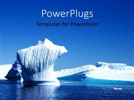 PowerPlugs: PowerPoint template with tip of iceberg on calm water against clear blue sky