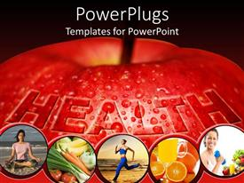 PowerPoint template displaying tips to be healthy and active