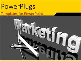 PowerPlugs: PowerPoint template with a large 3D text that spells out the word :marketing'