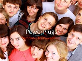 PowerPlugs: PowerPoint template with a number of kids with a place for text