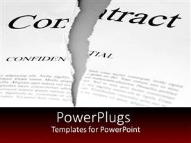 PowerPlugs: PowerPoint template with a torn contract that should be kept confidential