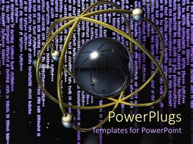 PowerPlugs: PowerPoint template with the transfer of the internet information and the binary code