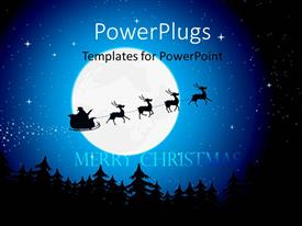 PowerPlugs: PowerPoint template with the travelling of imaginary Santa across the moon
