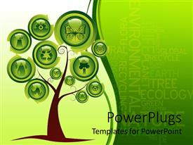 PowerPlugs: PowerPoint template with a tree with various signs instead of leaves
