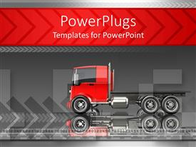 PowerPlugs: PowerPoint template with a truck with its reflection in the background