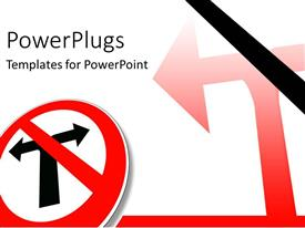 PowerPlugs: PowerPoint template with you cannot turn around warning sign board