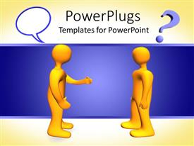 PowerPlugs: PowerPoint template with two 3D men with confusion signs in the air