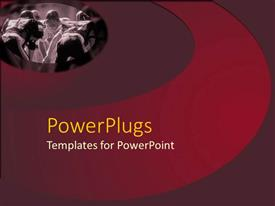 PowerPlugs: PowerPoint template with two American soccer teams having a match on a red background