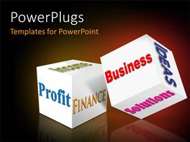 PowerPlugs: PowerPoint template with two boxes with a reddish background and place for text