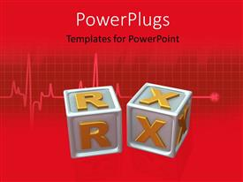 PowerPlugs: PowerPoint template with two boxes with reddish background and place for text