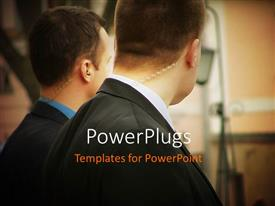 PowerPlugs: PowerPoint template with two CIA workers on the move