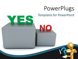 PowerPlugs: PowerPoint template with two dices with different options and place for text