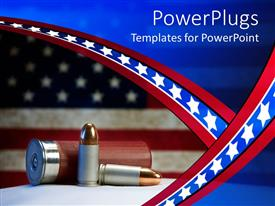 PowerPlugs: PowerPoint template with two different types of bullets with an American flag background