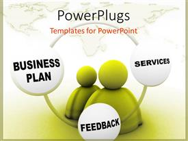 PowerPoint template displaying two figures with the cycle of a successful business