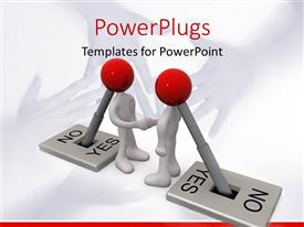 PowerPlugs: PowerPoint template with two figures with their reflection in the background