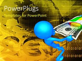 PowerPlugs: PowerPoint template with two figures trying to snatch the dollar note from each other