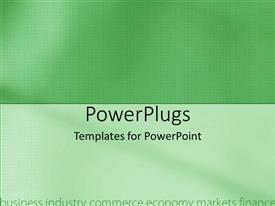 PowerPoint template displaying two green colored and white colored plain tiles