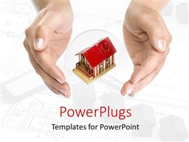 PowerPlugs: PowerPoint template with two hands with a house in the middle