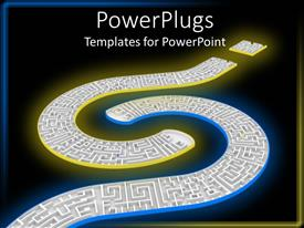 PowerPlugs: PowerPoint template with two huge question marks linked on a black background