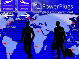 PowerPlugs: PowerPoint template with two people going on a tour