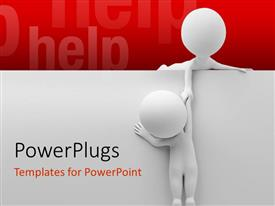 PowerPlugs: PowerPoint template with two people helping out each other