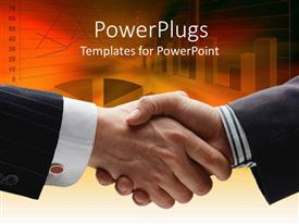 PowerPlugs: PowerPoint template with two people shaking their hands together