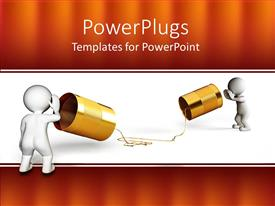 PowerPlugs: PowerPoint template with two people showing an old school of communication