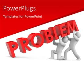 PowerPlugs: PowerPoint template with two people trying to hold the problem