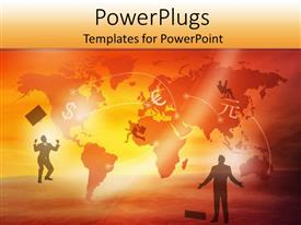 PowerPlugs: PowerPoint template with two professionals being happy on their success