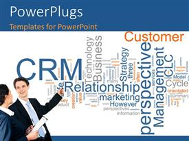 PowerPlugs: PowerPoint template with two professionals with white background and place for text