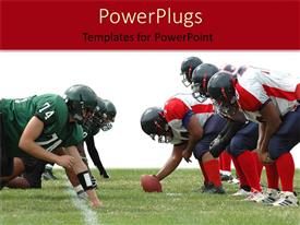 PowerPlugs: PowerPoint template with two rugby teams with a rugby ball