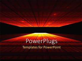 PowerPlugs: PowerPoint template with two skyscrapers with alot of light inside them