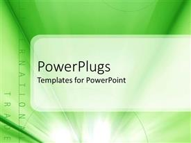 PowerPoint template displaying two text that spell out the words