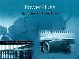PowerPoint template displaying two tiles showing different means of transportation