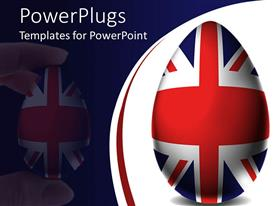 PowerPlugs: PowerPoint template with uK Easter egg, Union Jack flag, England, United Kingdom