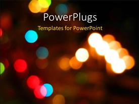 PowerPlugs: PowerPoint template with a umber of lights with blurred background