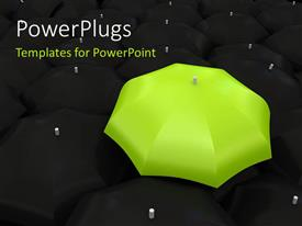 PowerPlugs: PowerPoint template with an umbrella with a dark background
