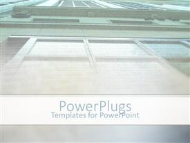PowerPlugs: PowerPoint template with upside view of a tall building with lots of windows