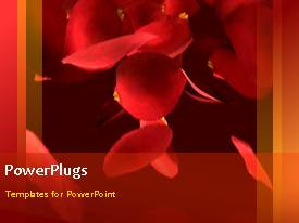 PowerPlugs: PowerPoint template with valentine depiction with beautiful and romantic burst of red roses