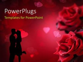PowerPlugs: PowerPoint template with a numbe rof roses with a couple
