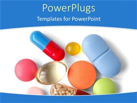 PowerPlugs: PowerPoint template with various capsules and pills with white background