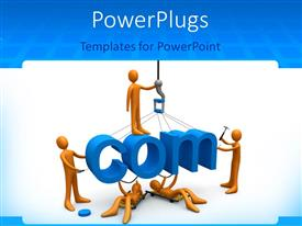 PowerPlugs: PowerPoint template with various figures constructing the .com word