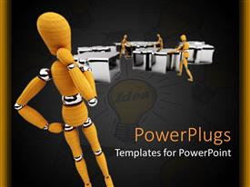 PowerPlugs: PowerPoint template with various figures trying top organise an office