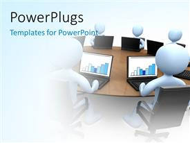 PowerPlugs: PowerPoint template with various participants in the office and white background