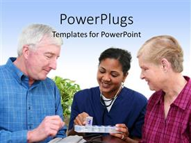 PowerPlugs: PowerPoint template with various people being given something for test