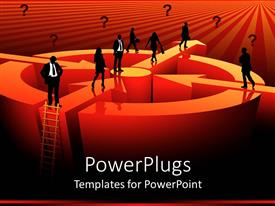 PowerPlugs: PowerPoint template with various people going towards various directrions