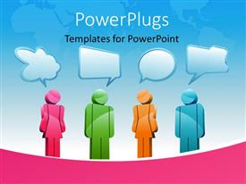 PowerPlugs: PowerPoint template with various people thinking in a nice environment