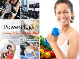 PowerPlugs: PowerPoint template with various people trying to remain fit