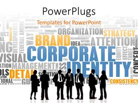 PowerPoint template displaying various professionals with a number of words