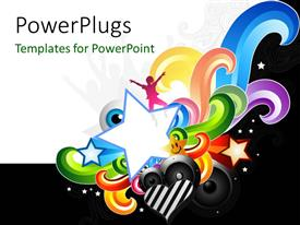 PowerPlugs: PowerPoint template with various speakers and stars along with white background